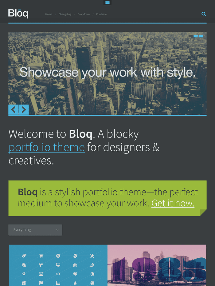 Bloq - Showcase your work with style.